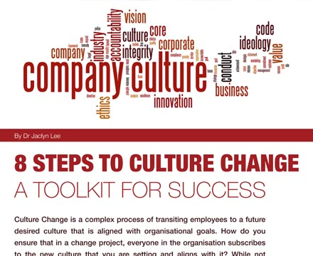8 Steps To Culture Change - Toolkit for Success By Jaclyn Lee