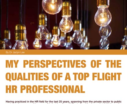 The Qualities Of A Top Flight HR Professional By Jaclyn Lee