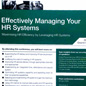 "Presentation on a ""Case Study: CISCO Security Private Limited-Integrating HR Management System into the HR Strategic Framework"" – Effectively managing your HR Systems conference by ARK Group"
